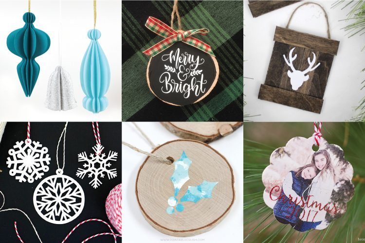 Make your tree shine with these DIY Christmas Ornaments made using the  Cricut! So many easy ornament ideas to help you deck your halls—using your  Cricut or ... - DIY Christmas Ornaments With The Cricut - Hey, Let's Make Stuff