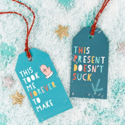 Totally Honest Printable Gift Tags for Christmas