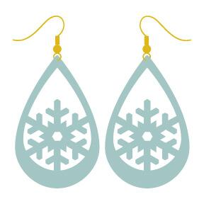 Snowflake Faux Leather Earrings Hey Let S Make Stuff