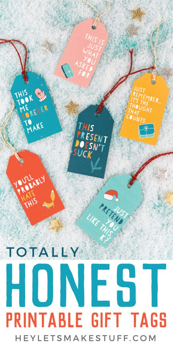 Say what you're really thinking with this funny Christmas gift tags! These printable