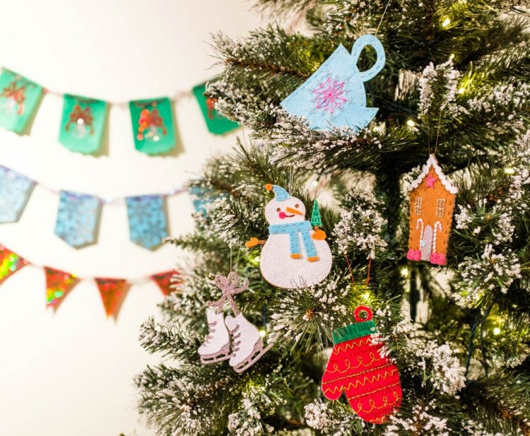 make your tree shine with these diy christmas ornaments made using the cricut so many