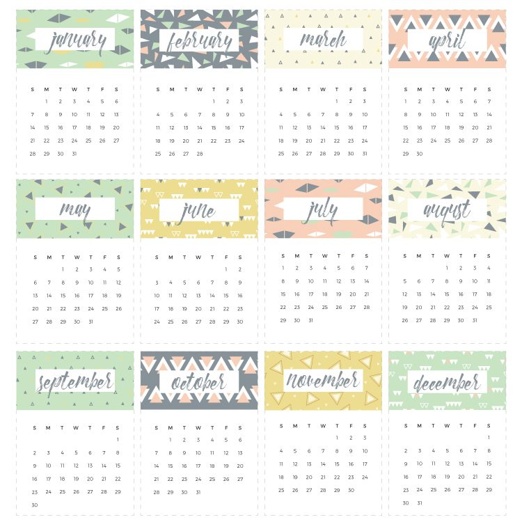 2018 Printable Calendar   a Fun Freebie!   Hey, Let's Make Stuff