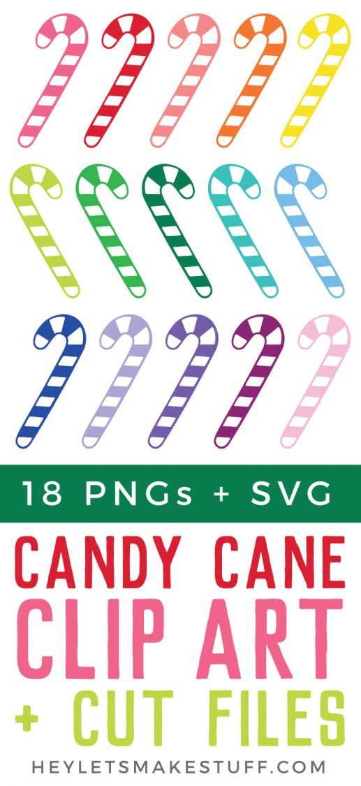 These fun and fanciful candy cane clip art and SVG cut files are a delicious addition to any holiday projects! Use them on Christmas cards, gift tags, party invites, and more!