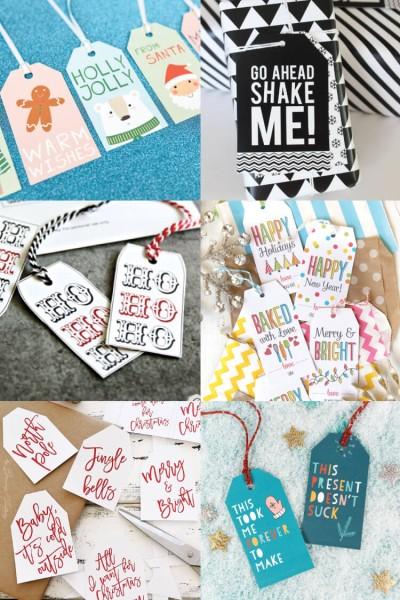 30+ Free Printable Gift Tags for Christmas