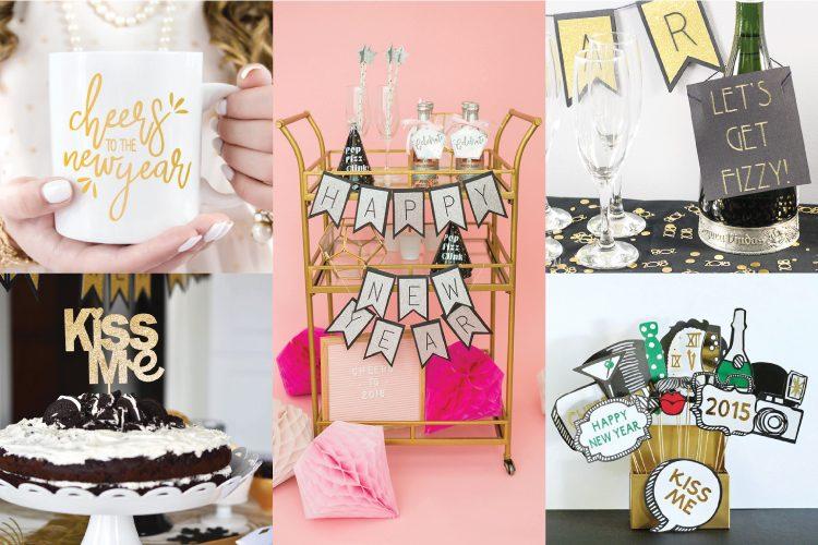 new year s eve party ideas with the cricut hey let s make stuff