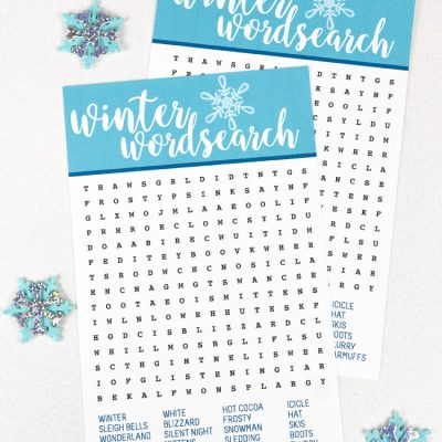 Winter Printable Word Search