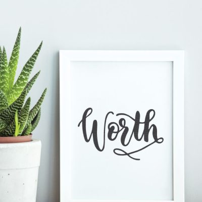 "Choosing a Word of the Year + ""Worth"" SVG"