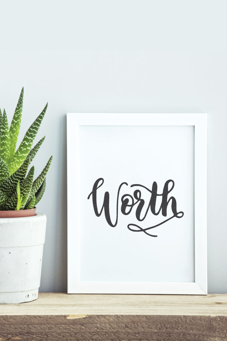 If New Year's resolutions aren't your thing, you may want to try just picking one Word of the Year. Here are a few tips for choosing one, and what to do with it once you have it picked! Plus get a freebie download of my word of the year—WORTH.