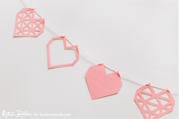 valentine's svg files - heart banner
