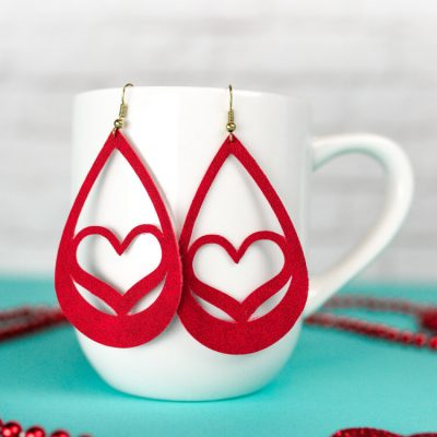 Valentine's Day Suede Earrings DIY
