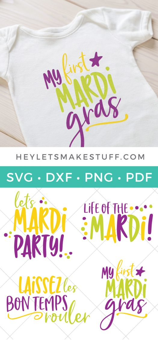 Grab your beads and your king cake -- it's time for Mardi Gras! Use these Mardi Gras SVG files to make cute shirts, tumblers, and tote bags to celebrate Fat Tuesday!