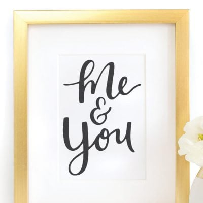 Valentine's Day Printable: Me & You