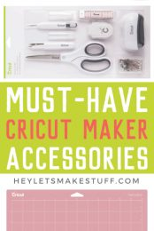 If you have a Cricut Maker, what sort of accessories do you want to buy to go with it? Which are important, and which are more of a splurge. Here's my ultimate list of must-have Cricut Maker Accessories!