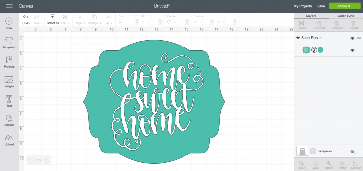 Using Slice In Cricut Design Space Hey Lets Make Stuff