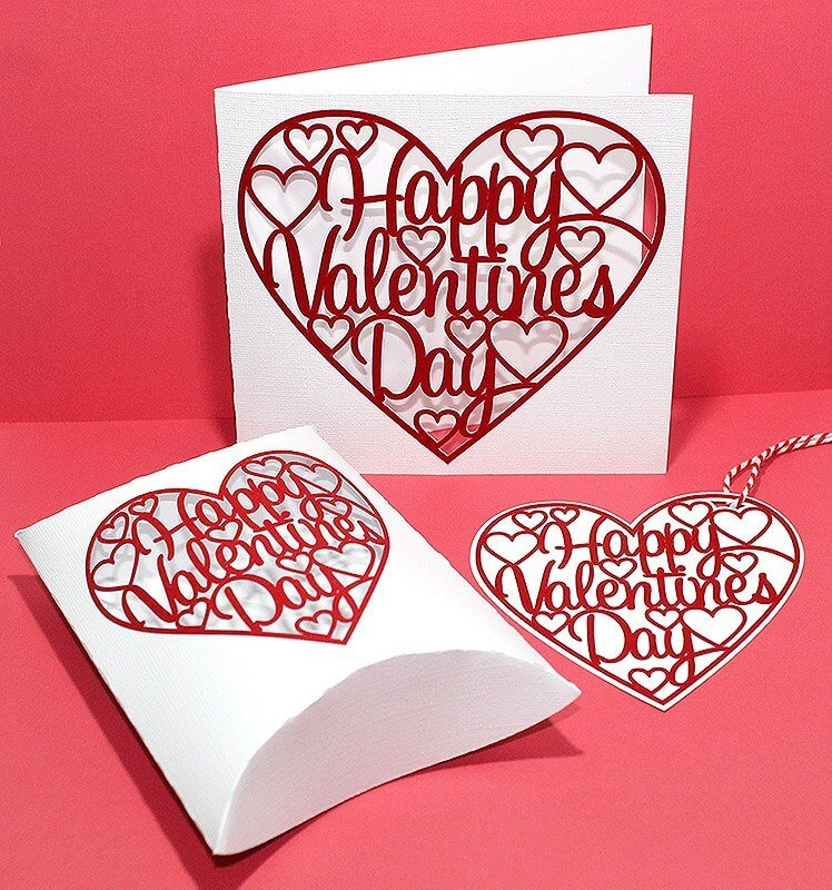 Valentines card SVG file for card