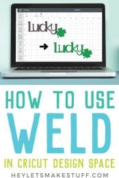 How do you weld in Cricut Design Space? Here's everything you need to know about the weld tool, as well as sample images to show what welding two shapes together actually looks like.