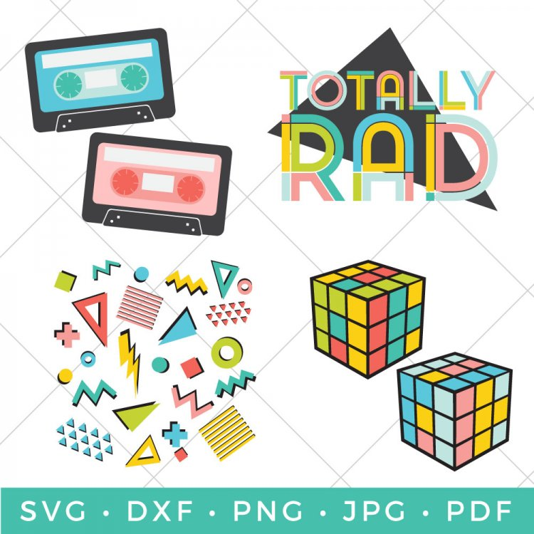 Bring back the totally rad 80s with this collection of retro SVGs! Give your t-shirt, backpack, Trapper Keeper, and just about anything that 80's feel with these 80s SVGs!