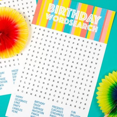 Printable Birthday Word Search