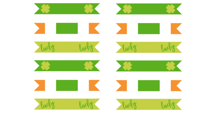 Screenshot of Irish Flags: Dress up those St. Patrick's Day inspired drinks with these FREE festive printable food flags! Three versions, great for both Irish food and drinks.