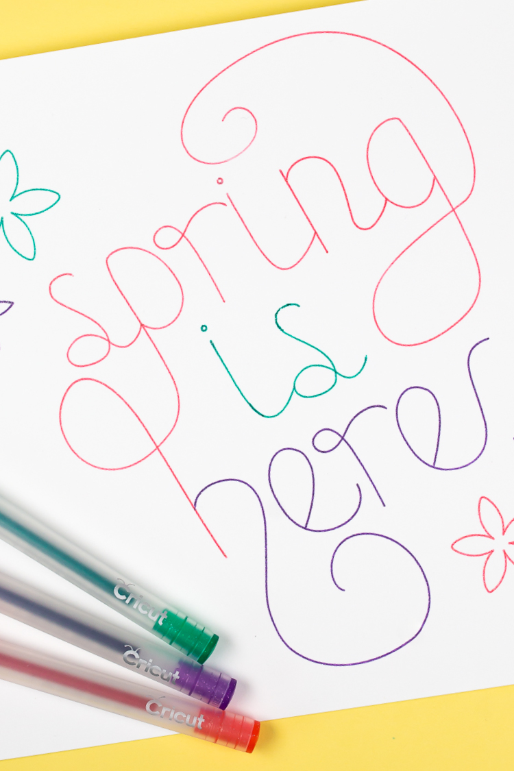 Use the Cricut Contour Tool to separate parts of a single draw image so you can write it in several colors! A fun way to use the Cricut Contour Tool and Cricut Pens.