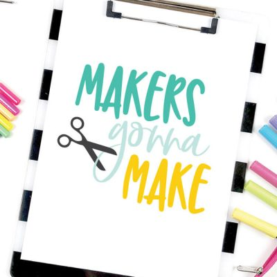 Makers Gonna Make SVGs – Flash Freebie