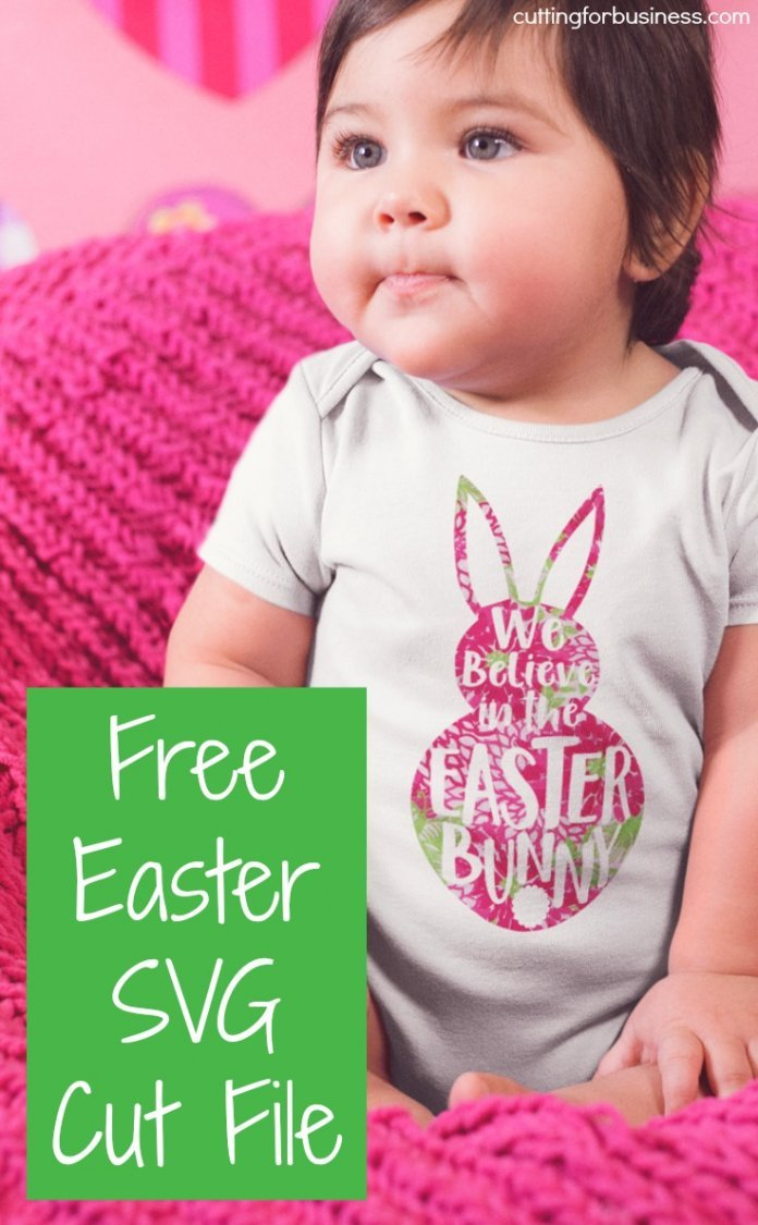 """""""We Believe in the Easter Bunny"""" I'm sharing my favorite FREE SVGs for Easter and spring! All the colors, designs, decor, and adorable characters you'll need for a fun and festive season."""