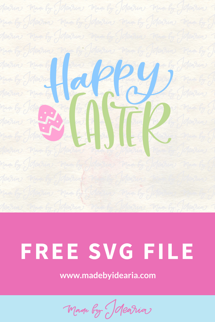 """""""Happy Easter"""" I'm sharing my favorite FREE SVGs for Easter and spring! All the colors, designs, decor, and adorable characters you'll need for a fun and festive season."""