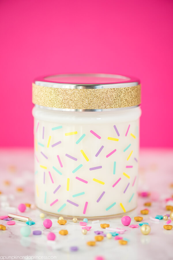 cake jar candle