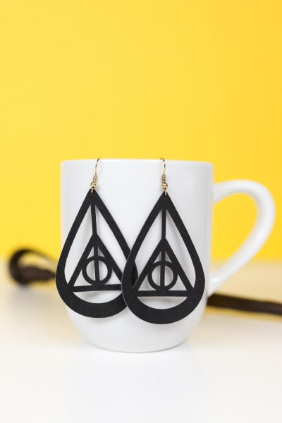 DIY Harry Potter Deathly Hallows Earrings