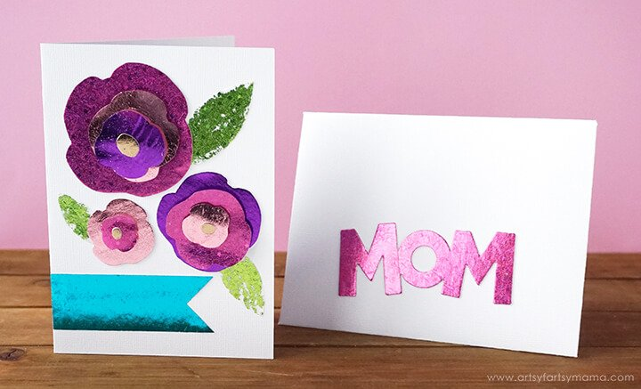 foiled mothers day cards