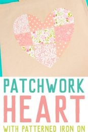 Add this patchwork heart to your t-shirts, totes, notebooks and so much more using Cricut's Patterned Iron On! Make this file yourself from a single heart in Cricut Design Space using the Contour Tool. It's easy!