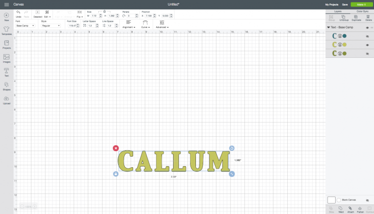 Cricut Design Space: Adding a Name Using Outline