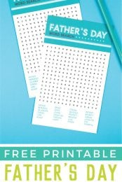Dad will get a kick out of this printable Father's Day Word Search, filled with words to celebrate just how special your dad is to you.. Challenge him to see who can find all the words the fastest!