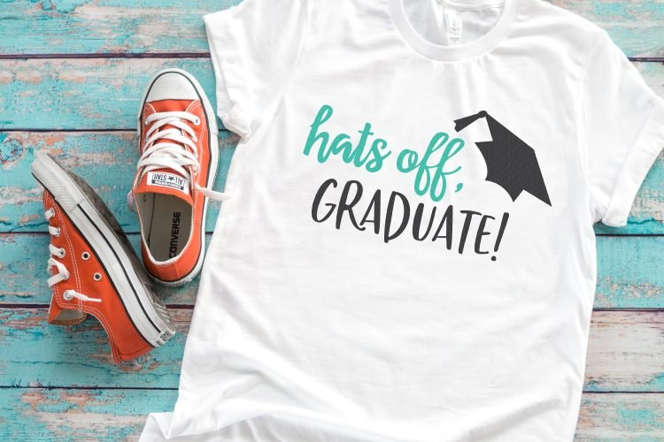 This celebratory graduation SVG bundle has four files so you can make all sorts of graduation gifts and cards to show your favorite graduate how proud you really are!