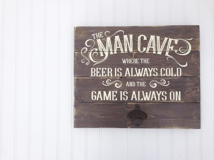 Man Cave Sign - Board + Batten Design