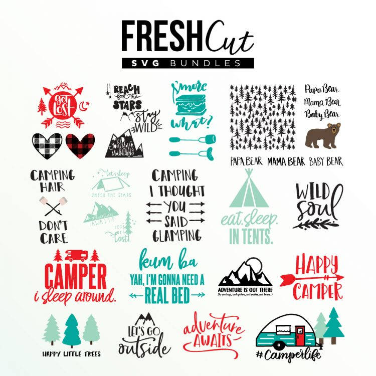 Camping Svg Bundle For Camping Crafts And Diy