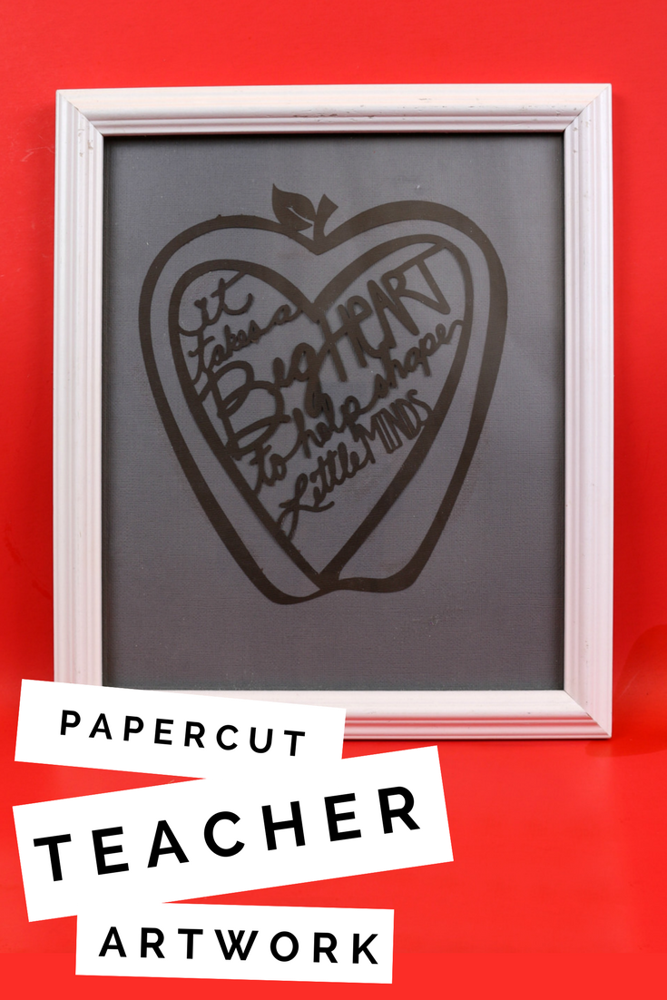 Paper Cut Teacher Artwork