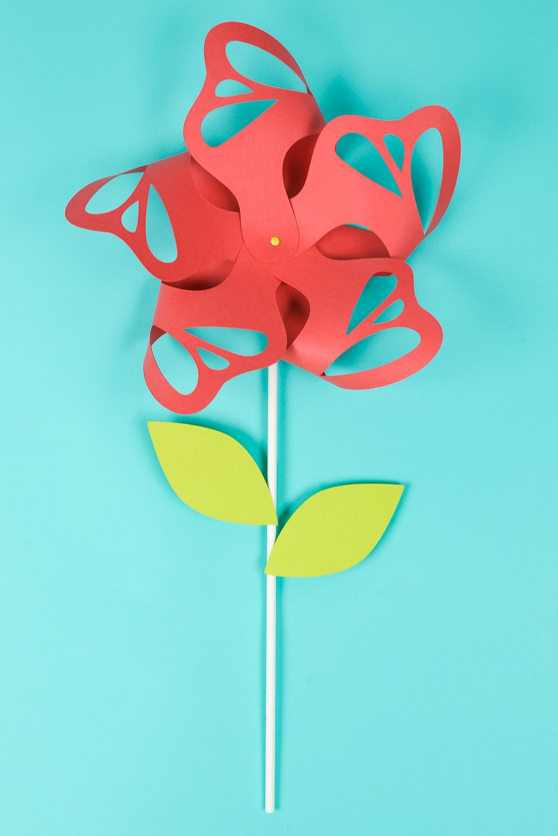 How to make 3d cricut cardstock flowers step by step instructions flower paper pinwheels are beautiful for wedding and party decor summer parties and nursery izmirmasajfo
