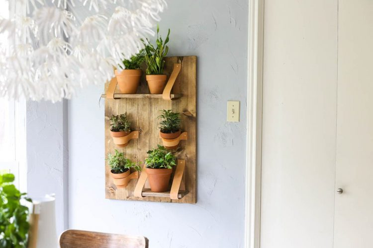 Leather Wall Planter