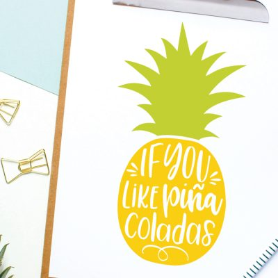 Piña Colada Pineapple SVG – Flash Freebie
