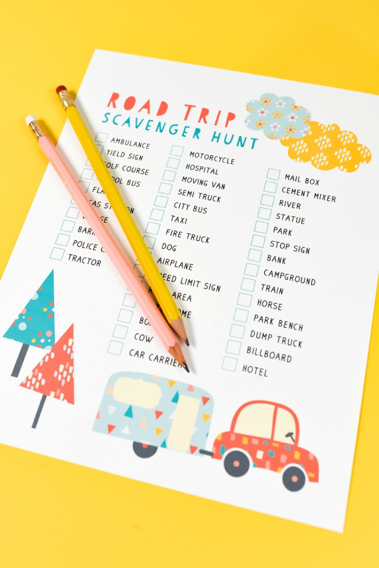 "This free printable road trip scavenger hunt is so much fun for all ages and can be played every time your family goes on vacation! This road trip game will keep your family entertained in the car—no more ""are we there yet?""s!"