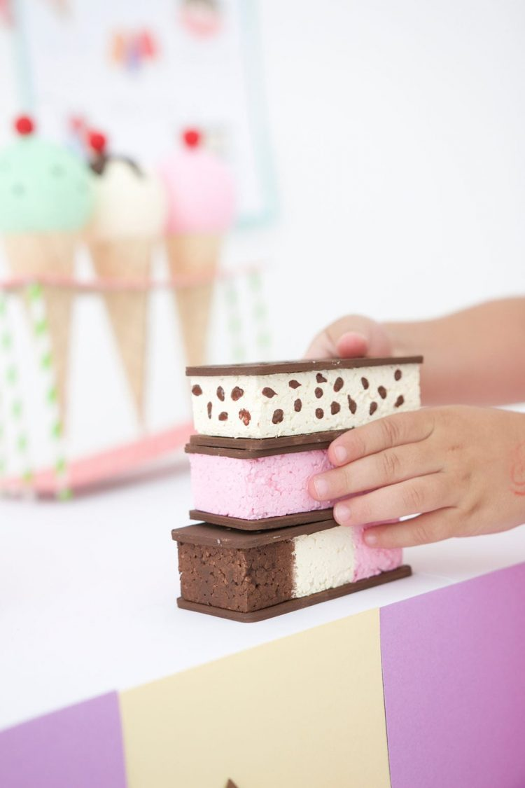 kids cricut craft ice cream sandwiches