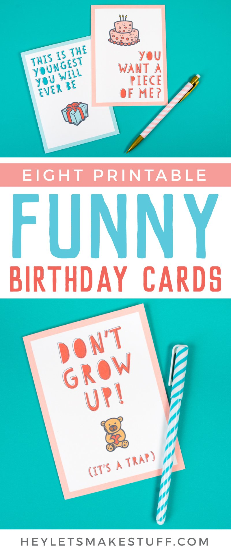 It is a photo of Influential Printable Funny Birthday Card