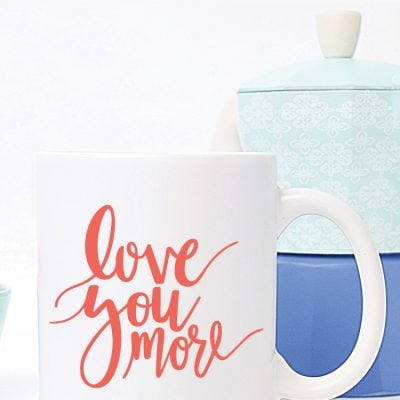 Love You More Hand Lettered SVG
