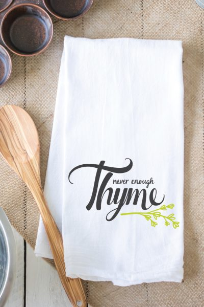Never Enough Thyme Hand Lettered SVG – Flash Freebie