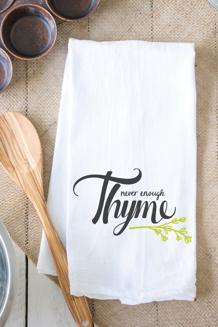 Never Enough Thyme Hand Lettered Svg Flash Freebie Hey