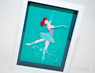 Princess Ballerina Shadow Box
