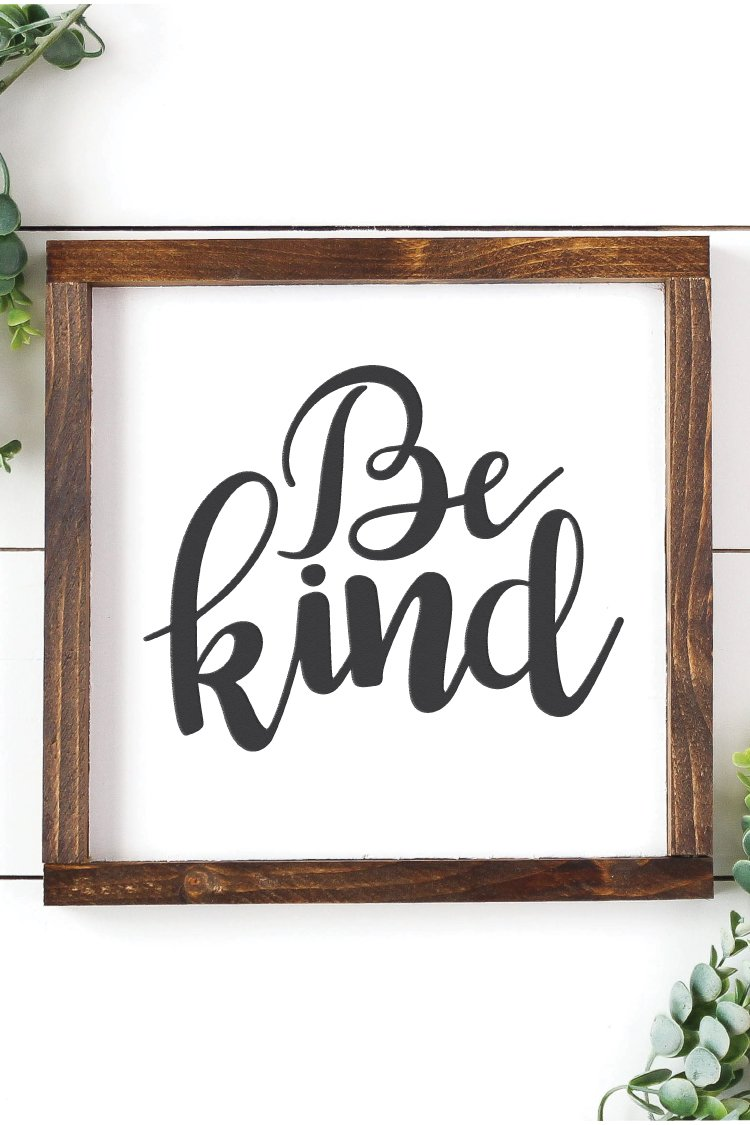 Be Kind Hand Lettered Files Perfect For Home Classroom