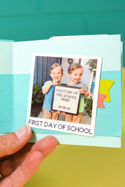 Back to School Memory Book with the Cricut