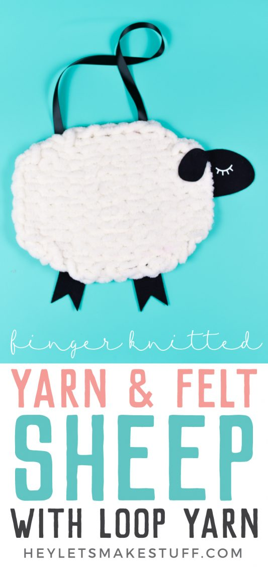 Nursery Decor Yarn And Felt Sheep A Loop Yarn Project